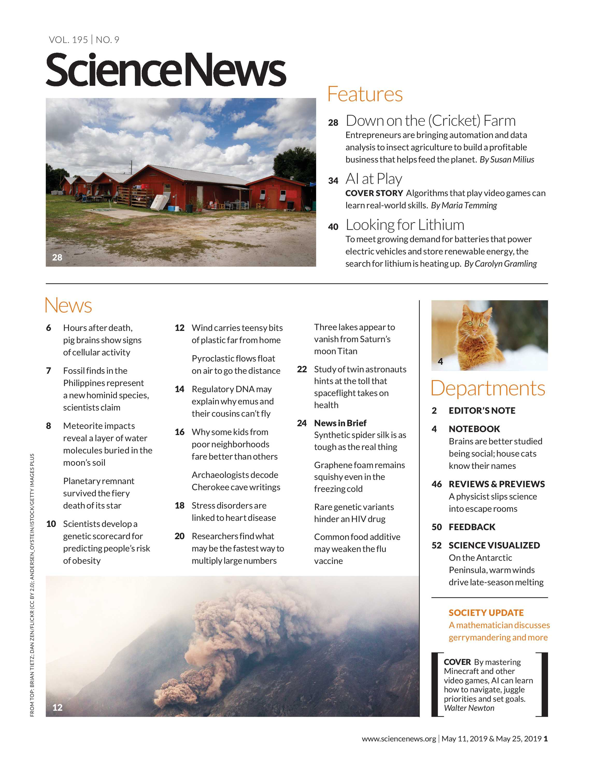 Science News - May 11, 2019 and May 25, 2019 - page 1